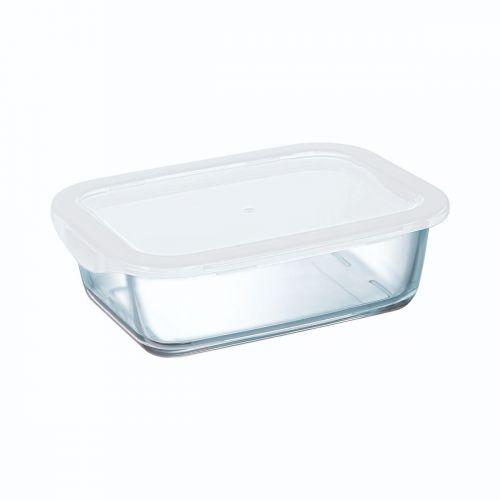 Boîte rectangulaire 122 cl avec couvercle Food Box