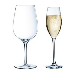 verre à vin et flute à champagne collection sequence chef&sommelier