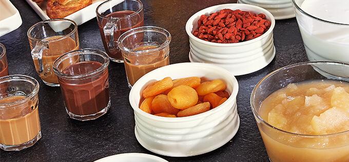 Buffet petit déjeuner Arcoroc Eskale et Be Bop