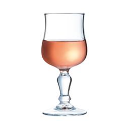 Verre à pied trempé Normandie avec vin rosé Arcoroc